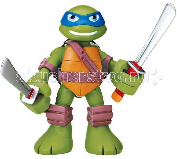 Игровые фигурки Turtles Говорящая фигурка Черепашки-ниндзя Леонардо Half Shell Hero 15 см фигурка tmnt черепашки ниндзя 6см донни на санях серия half shell hero