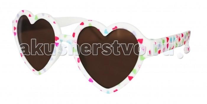 Солнцезащитные очки Caramella в форме сердечек с цветами caramella очки солнечные хамелеон бело розовые uv av защита