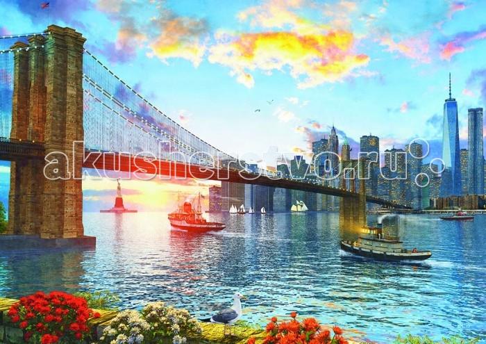 Educa Пазл Бруклинский мост 4000 деталейПазл Бруклинский мост 4000 деталейПазл Бруклинский мост состоит из 4000 деталей.  Размер собранной картинки: 136*96 см.  Правила игры: вскрыть упаковку и собрать игру по картинке.  В комплект входит сухой клей.<br>