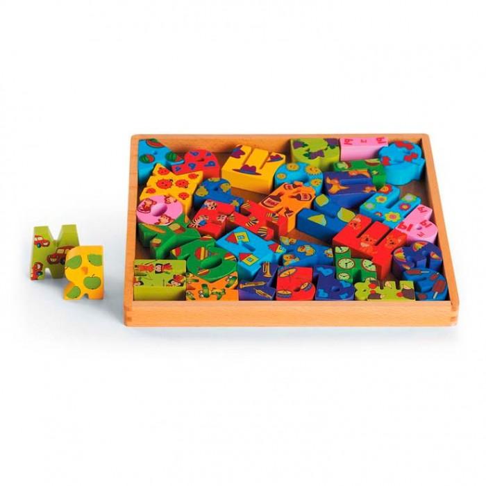 Деревянные игрушки Папа Карло Азбука