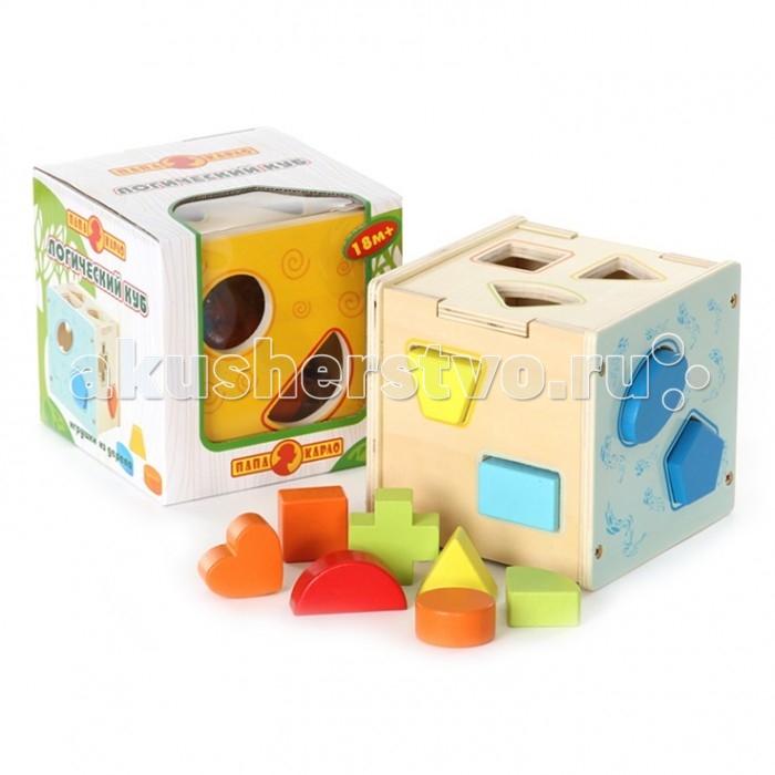 Деревянные игрушки Папа Карло Логический куб папа карло конструктор машинка папа карло