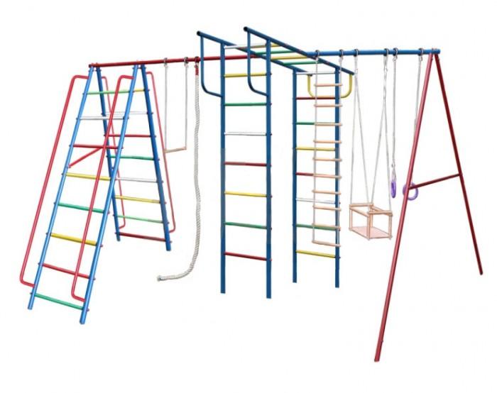 Вертикаль А1+П Макси Детский спортивный комплексА1+П Макси Детский спортивный комплексЕсли вы хотите быть спокойны за своих деток, уделяете внимание их физическому развитию, то приобретая им на радость детский спортивный комплекс для улицы и дачи, вы тем самым делаете инвестиции в их здоровье. Установленный в вашем дворе или на даче детский спортивный комплекс , сочетающий в себе элементы игры и спорта, станет излюбленным местом для весёлых игр и соревнований детворы. Играя в своё удовольствие на свежем воздухе, дети развиваются физически.   Изготавливаются детские уличные спортивные комплексы из экологичных материалов, при их производстве используется нержавеющая сталь, они устойчивы к атмосферным осадкам и перепадам температуры и рассчитаны на длительную эксплуатацию. Все модели детских спортивных комплексов для улицы и дачи сертифицированы и безопасны.   Шикарный дачный спортивный комплекс, оснащенный кольцами, канатами, качелями. Такой комплекс развлечет Ваших детей и позволит всегда оставаться в отличной спортивной форме.  Крепление: цементируются «стаканы», в которые устанавливаются стойки ДСК Высота дачного комплекса: 2.20 м Занимаемая площадь: 3.90 х 2.40 м Допустимая нагрузка: 90 кг Комплектация дачного комплекса: канат, кольца, качели, веревочная лестница, трапеция<br>
