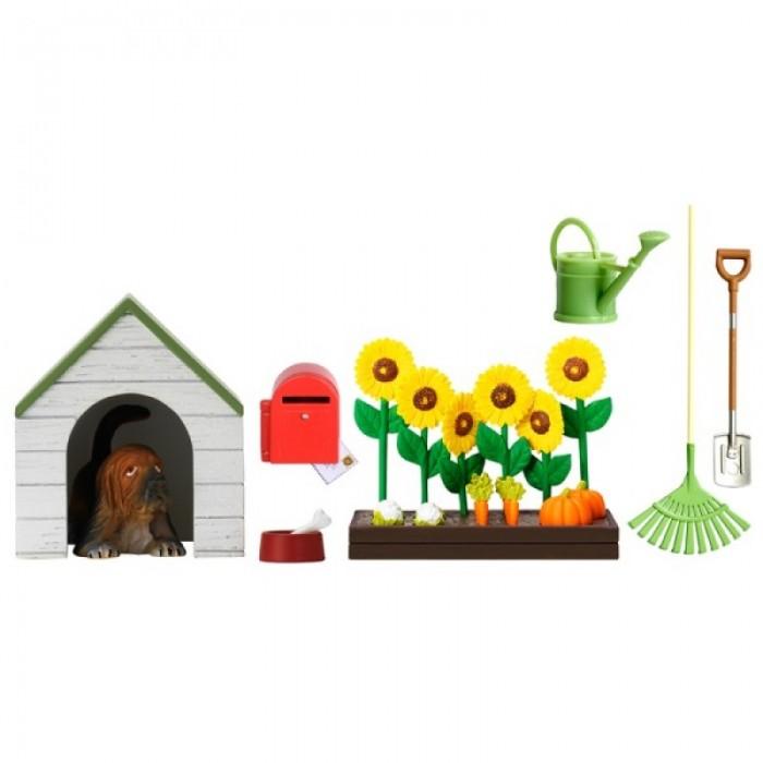 Кукольные домики и мебель Lundby Аксессуары для домика Смоланд Садовый набор с питомцем