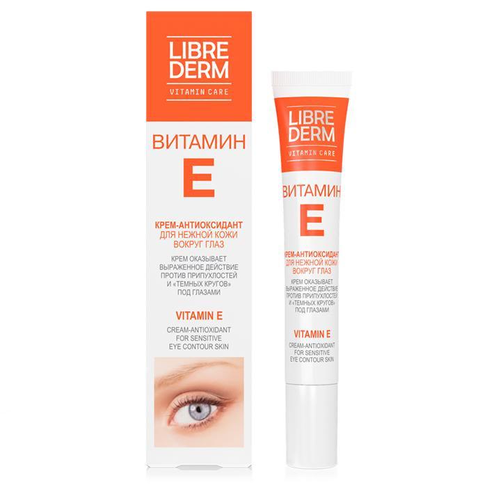 Косметика для мамы Librederm Витамин Е крем-антиоксидант для нежной кожи вокруг глаз 20 мл сыворотки mastic spa сыворотка для кожи вокруг глаз против темных кругов и отеков masticeye serum