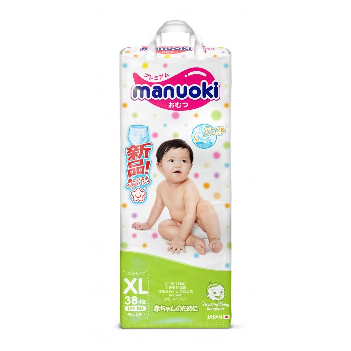 Подгузники Manuoki Подгузники-трусики XL (12+ кг) 38 шт.