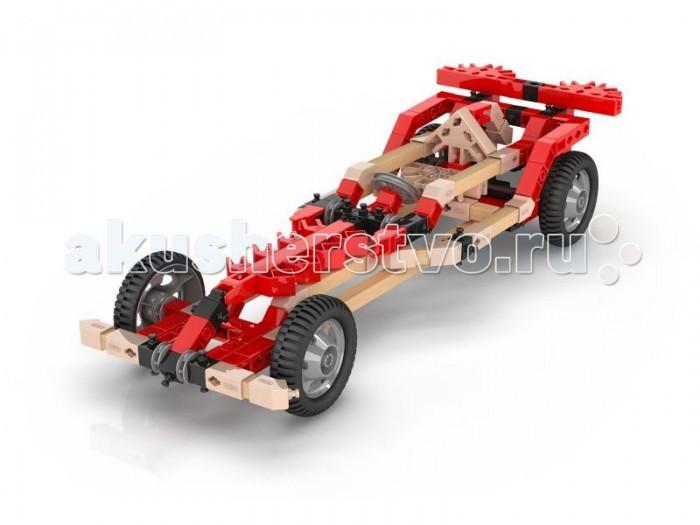 Конструктор Engino Eco Builds Машины с Мотором 3 в 1Eco Builds Машины с Мотором 3 в 1Engino Eco Builds Машины с Мотором 3 в 1.  Инновационная разработка Engino — гибридные конструкторы, которые сочетают детали из пластика и дерева. Благодаря уникальной технологии деревянные и пластиковые элементы соединяются без клея или дополнительного крепежа. Серия Eco Builds объеденяет в себе тепло и экологичность дерева и широкие возможности пластиковых сборочных систем.  В комплекте:  инструкция для сборки 3 движущихся моделей гоночных машин с мотором  инструмент для моментального разъединения мелких деталей  электродвигатель.   Батарейки: 2 х AAA/LR03, в комплект не входят.<br>