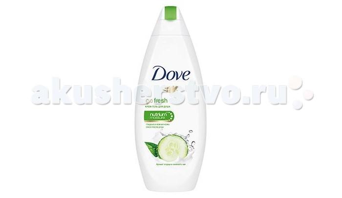 Косметика для мамы Dove Крем-гель для душа Прикосновение свежести 250  мл (огурец и зеленый чай) dove крем для тела с эффектом загара