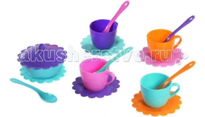 Кукольные домики и мебель Tigres Набор посуды Ромашка на 4 персоны с сахарницей Люкс  juventus tigres