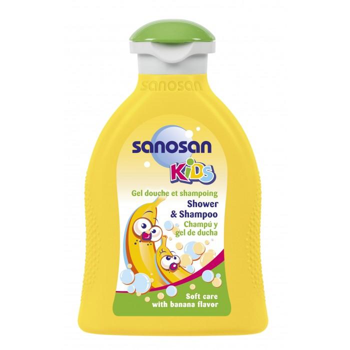 Косметика для новорожденных Sanosan Гель для душа и шампунь с ароматом банана 200 мл