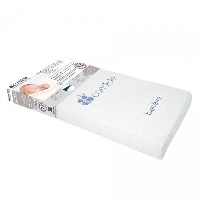 Матрас Candide для кровати со съемным чехлом Adjustable mattress 60х120х12 смдля кровати со съемным чехлом Adjustable mattress 60х120х12 смCandide Матрас для кровати со съемным чехлом Adjustable mattress 60х120х12 см 584084  Способствует засыпанию. Матрас двухсторонний. С одной стороны используется для новорожденных детей до 10кг (плотность 16 кг/м3), а с другой стороны для детей с массой тела более 10 кг. Съемный чехол.  Состав: микроперфорированная латексная основа, полиуретан Антибактериальный, против клещей.<br>