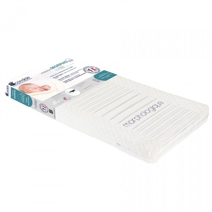 Матрас Candide Морфологический для кровати со съемным чехлом Morphological matt 60х120x11 смМорфологический для кровати со съемным чехлом Morphological matt 60х120x11 смCandide Морфологический матрас для кровати со съемным чехлом Morphological matt 60х120 см (толщина 11 см) 580104  Эргономичный сон. Уменьшает область давления на тело для достижения оптимальных условий для сна. Удерживает позвоночник в наилучшем положении. Снимает точки давления, улучшает качество сна. Чехол матраса сделан их микроорганизмов на основе активных компонентов, которые уменьшают аллергены и риск раздражения у маленьких детей. Съемный чехол.  1 сторона - пенополиуретановая, 2 сторона - ядро вязкоупругой пены (50 кг/м3)  100% натуральный гипоаллергенный лечебный.<br>