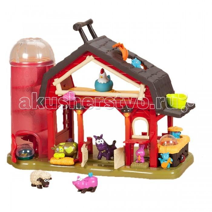 Развивающая игрушка Battat Музыкальная ферма 68680Музыкальная ферма 68680Развивающая игрушка Battat Музыкальная ферма 68680. Баа-баа — амбар. На этой ферме творятся чудеса!  Особенности: поместите корову, свинку, овцу или лошадь за дверь амбара и Вы услышите, как они поют четыре разные песни, каждая зависит от того, кто из животных окажется за дверью амбара два шарика скатываются вниз по трубе и вылетают из открывающейся дверки божья коровка едет назад и вперед по зигзагообразной траектории двери открываются и закрываются мельница вращается передвиньте мышку и смотрите, как курочка подпрыгнет поднимите окошко на крыше и познакомьтесь с веселой летучей мышью поднимите дверь и поприветствуйте кролика удобная ручка поможет вам взять веселую ферму и его жителей в любое место и наконец!...Откройте двери — зажжется свет и...время для музыки и та-а-а-нцев 4 батарейки АА входят в комплект.<br>