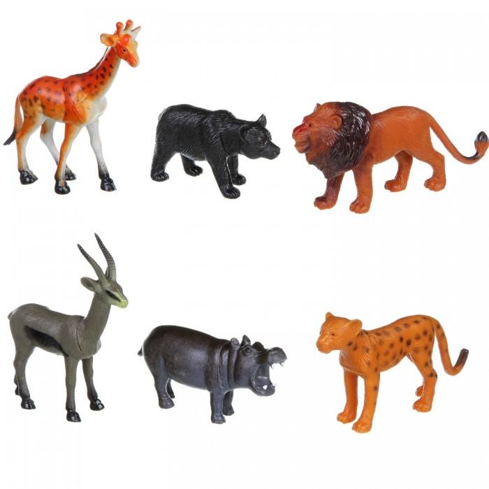 Игровые фигурки Bondibon Набор животных Ребятам о Зверятах Дикие животные 5 дюймов 6 шт. bondibon набор животных ребятам о зверятах дикие животные 5 дюймов 6 шт