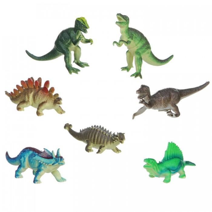 Игровые фигурки Bondibon Набор животных Ребятам о Зверятах Динозавры 5 дюймов 7 шт. bondibon набор животных ребятам о зверятах дикие животные 5 дюймов 6 шт