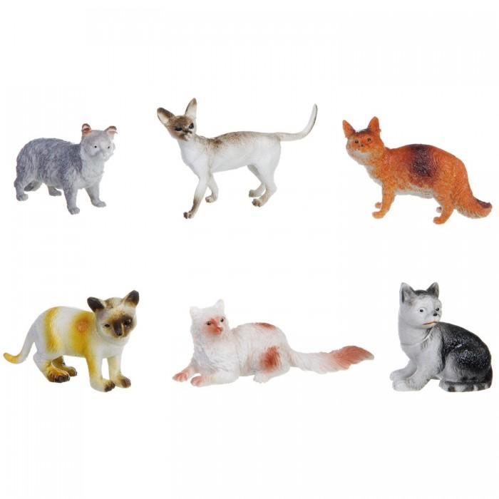 Игровые фигурки Bondibon Набор животных Ребятам о зверятах Кошки 3 дюйма 6 шт. bondibon набор животных ребятам о зверятах дикие животные 5 дюймов 6 шт