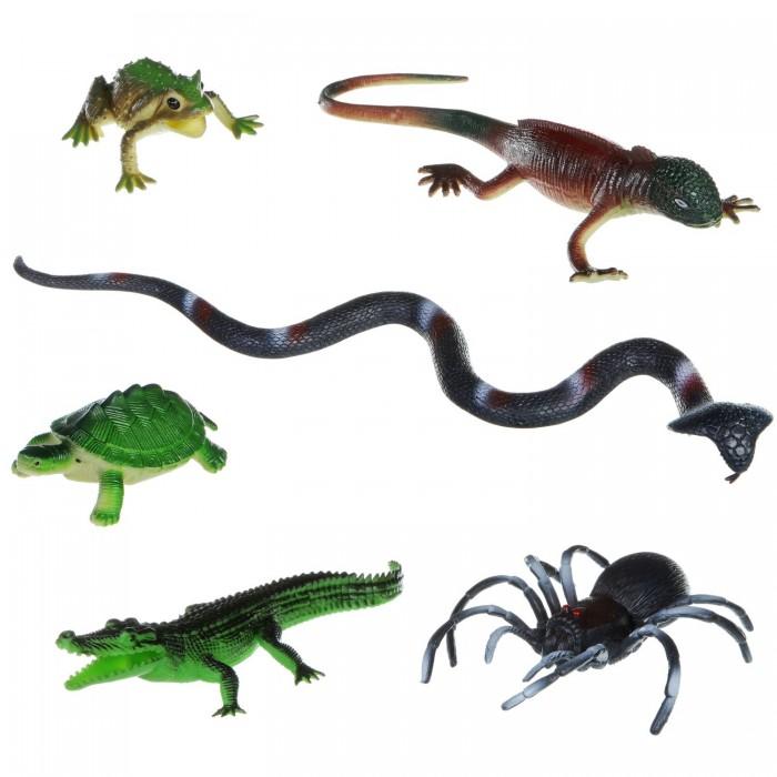 Игровые фигурки Bondibon Набор животных Ребятам о зверятах Рептилии 6 шт. bondibon набор животных ребятам о зверятах дикие животные 5 дюймов 6 шт
