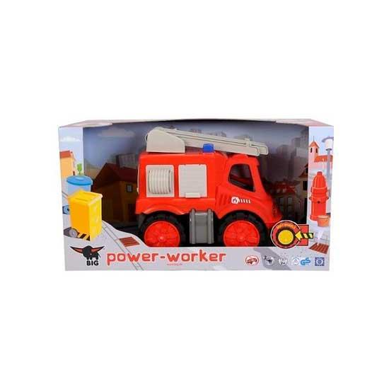 BIG Пожарная машина Power-WorkerПожарная машина Power-WorkerПожарная машина ВIG Power-Worker наверняка по достоинству оценят отличную пожарную машину, разработанную специально для малышей! Машина внушительных размеров и яркого цвета отлично подходит для игр в помещениях, в детской или на уличной игровой площадке.Устойчивые колеса пожарной машины сделаны из мягкого материала, сама игрушка порадует своим великолепным внешним видом: она изготовлена из пластика высокого качества, и привлечет внимание малышей ярким красным цветом. В кузове машины размещены несколько отсеков, в которых можно перевозить все, что понадобится при тушении пожаров.Боковая и задняя дверцы машины открываются. Пожарная Power Worker оснащена раздвижной лестницей, которая может поворачиваться вокруг своей оси.  Характеристики:  Размер (дхгхш): 31 х 20 х 26 см Материал: пластик  Вес: 1.5 кг<br>