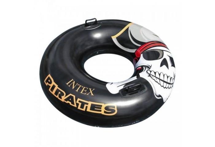 Круги и нарукавники для плавания Intex Круг детский с ручками Пират 107 см матрасы для плавания intex плотик с ручками