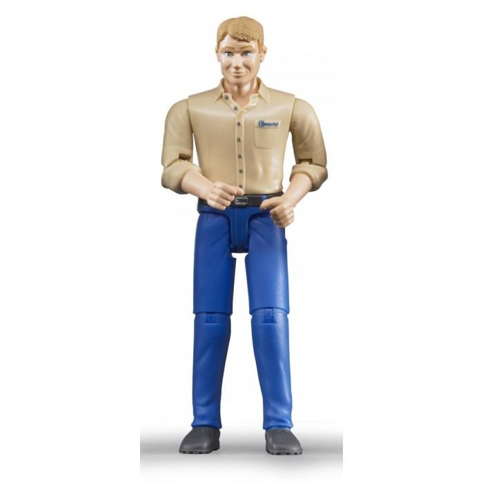 Игровые фигурки Bruder Фигурка мужчины в голубых джинсы