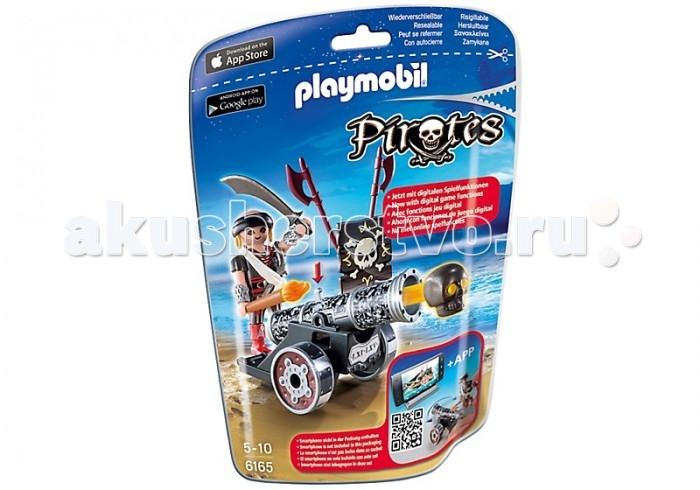 Конструкторы Playmobil Пираты: Черная интерактивная пушка с морским пиратом