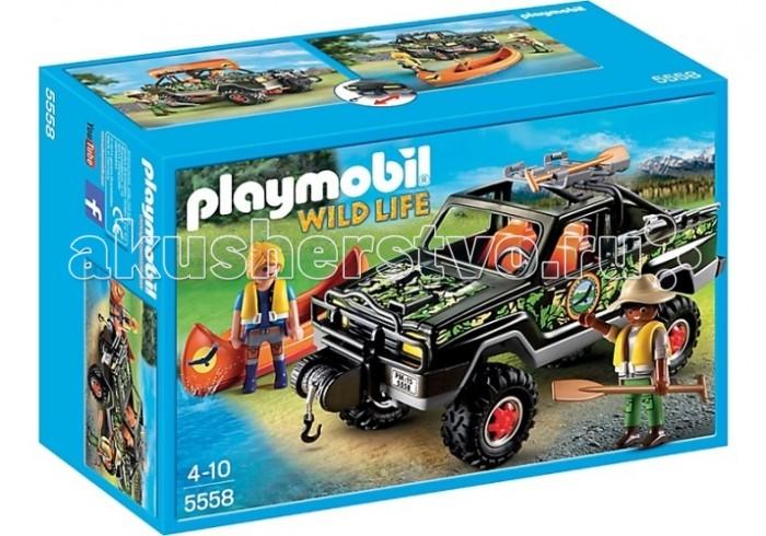 Конструктор Playmobil В поисках приключений: Пикап с лодкой