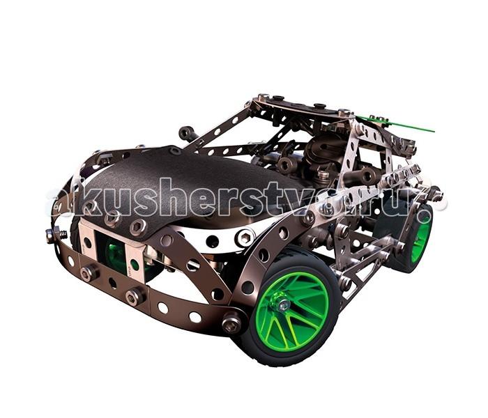 Meccano Раллийная машина с моторомРаллийная машина с моторомMeccano Раллийная машина с мотором от всемирно известного производителя металлических конструкторов Meccano состоит из 323 элементов и включает в себя множество функциональных деталей: рулевое управление, мягкие панели на корпусе и даже настоящий двигатель. Из набора можно собрать 25 различных моделей. Части автомобиля детально проработаны, например колёса собираются из 3-х разных деталей.  Все детали отлиты из высококачественного сплава, на них отсутствуют заусенцы и острые грани. Конструкторы Meccano помогут развить в вашем ребёнке навыки инженерного мышления.<br>