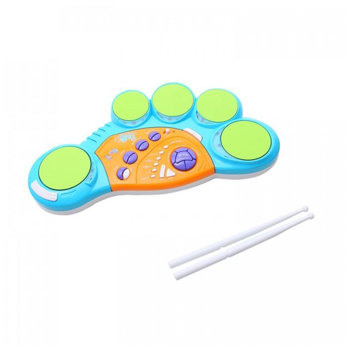 Музыкальная игрушка Potex Барабанная установка Drum King на батарейках 5 подушек, педаль, свет 620B
