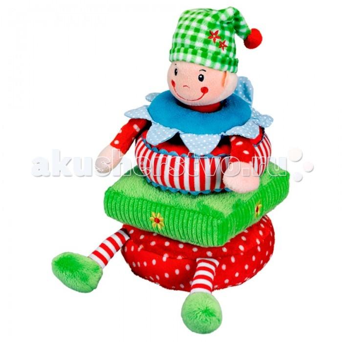 Развивающая игрушка Spiegelburg Пирамидка Baby GluckПирамидка Baby GluckSpiegelburg Пирамидка Baby Gluck.  Пирамидка Baby Gluck в виде веселого человечка поможет научить малыша распознавать различные размеры, цвета и объединять их в правильном порядке. Пирамидка состоит из 5 мягких деталей с эффектом погремушки.<br>
