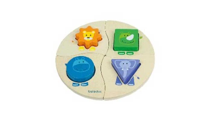 Деревянные игрушки Beleduc Развивающая Забавная четверка деревянные игрушки beleduc развивающая веселый бегемотик