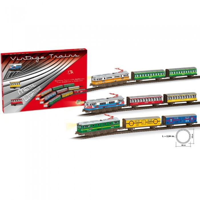 Pequetren Железная дорога 2,94м круг 1 локомотив 2 вагона 201Железная дорога 2,94м круг 1 локомотив 2 вагона 201Pequetren Железная дорога 2,94м круг 1 локомотив 2 вагона 201. Сегодня миниатюрные модели железной дороги – это и хобби, и профессия, и просто детская игрушка. Все дети любят наблюдать, как едет большой и внушительный поезд по железной дороге, как он громко стучит и едет по рельсам.   Играть с детской железной дорогой нравится детям всех возрастов, каждый найдет игру по душе: можно управлять поездом, следить за его передвижениями, придумывать историю, куда едет поезд – все это так нравится не только мальчикам, но и девочкам. Строительство железной дороги - это настоящий простор для фантазии детей, можно использовать железную дорогу для перевозки животных, пассажиров, грузов и других материалов на дальние расстояния. Дети старшего возраста больше интересуются устройством, конструкцией железной дороги, механизмом движения и управления.   Игрушечная железная дорога является великолепным развивающим пособием для детей любого возраста. Сборка рельс в единую конструкцию развивает пространственную координацию, мышление фантазию.<br>