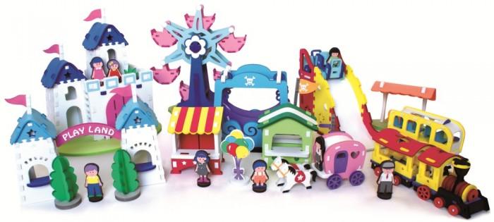 Конструктор Bebox Парк развлечений 402 деталиПарк развлечений 402 деталиИгровой набор Парк развлечений - замечательный подарок ребенку на праздник. Все дети любят аттракционы и теперь у Вас и вашего ребенка есть возможность создать свой маленький парк развлечений прямо у себя дома. Ваш ребенок сможет провести увлекательное путешествие для своих игрушечных друзей на экспресс поезде, прокатить их на колесе обозрения, поесть мороженого в лавке сладостей, погулять по сказочному замку.  После сборки конструктор хорошо и прочно держит форму, что позволяет свободно использовать его в игре. Конструктор развивает сосредоточенность, внимательность, двигательную память, мелкую моторику рук и воображение.  Мягкий конструктор Bebox сделан из вспененного полимера, он не токсичен, не вызывает аллергии, прошел европейскую и российскую сертификации. Материал легкий и прочный, что выделяет его среди прочих конструкторов!   Весь конструктор мягкий, им невозможно случайно пораниться. А так как конструктор сделан из вспененного полимера, то он свободно держится на воде, поэтому все игрушки идеально подходят для купания.  В набор входят:  8 игровых персонажей 5 зданий (сказочный замок, киоск с конфетами, лавка мороженого, автобусная остановка, билетная касса) 3 аттракциона (колесо обозрения, веселая горка, качели), 3 вида транспорта (поезд, карета, автобус)<br>