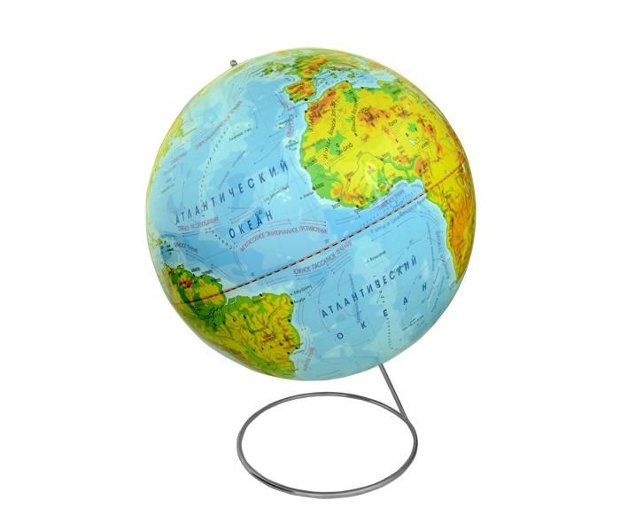 Rotondo Глобус физический, 42 см на металлической подставкеГлобус физический, 42 см на металлической подставкеRotondo Глобус физический, 42 см, на металлической подставке.  Глобус является уменьшенной и практически не искаженной моделью Земли и предназначен для использования в качестве наглядного картографического пособия, а также для украшения интерьера квартир, кабинетов и офисов.   Красочность, повышенная наглядность визуального восприятия взаимосвязей, отображенных на глобусе объектов и явлений, в сочетании с простотой выполнения по нему различных измерений делают глобус доступным широкому кругу потребителей для получения разнообразной познавательной, научной и справочной информации о Земле.<br>
