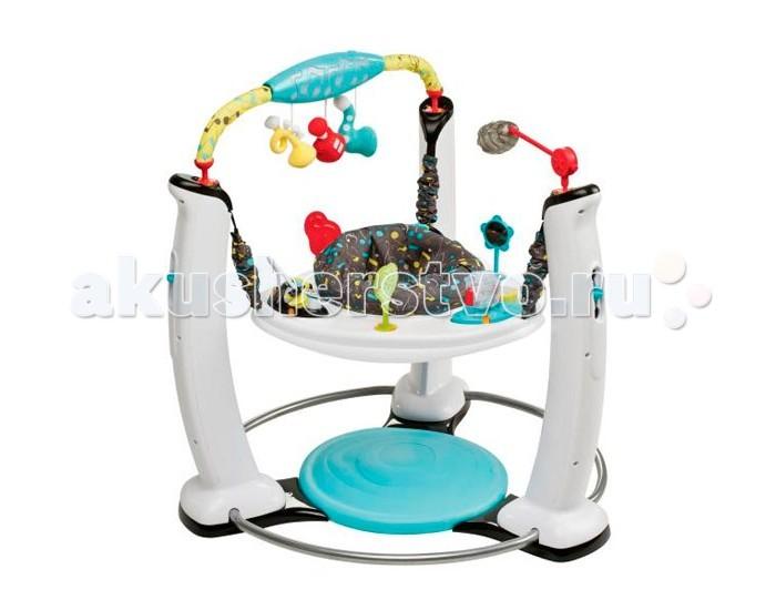 Игровой центр Evenflo ExerSaucer Jam SessionExerSaucer Jam SessionИгровой центр Evenflo ExerSaucer Jam Session - это безопасный устойчивый игровой центр, в котором дети могут прыгать, играть и познавать мир. разнообразные соответствующие возрасту игрушки разработаны в сотрудничестве с Институтом развития ребенка и помогают ребенку достичь важных моментов развития.   Возможности раскачивания, вращения и прыгания обеспечивают ребенку множество упражнений для развития крупной моторики. Устойчивое основание помогает развивать внутреннюю силу и координацию. Интеллектуальные электронные игрушки проигрывают музыку в одном из трех жанров, которые ребенок выбирает на специальной консоли.  Особенности: предназначен для детей от 4 месяцев до начала хождения (максимальный рост – 75 см) безопасная среда для развития и игр ребенка 67 веселых развивающих активностей помогают детям достичь важных моментов развития на мягком основании можно прыгать и развивать равновесие «Интеллектуальные» электронные игрушки взаимодействуют друг с другом, развлекая ребенка светом и музыкой в 3 музыкальных жанрах играя, ребенок может прыгать и развивать ножки игрушки можно отсоединить и взять с собой физические упражнения, развивающие мышцы шеи, спины и ног ребенка, а также крупную моторику игрушки находятся в непосредственной близости к ребенку 3 положения высоты: игровой центр «растет» вместе с ребенком, что обеспечивает его максимальную ценность простая и удобная чистка съемная подушка сиденья, которую можно стирать в стиральной машине<br>