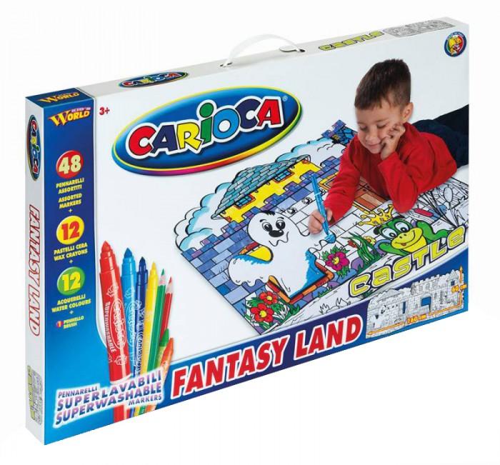 Carioca Набор для рисования CASTLE 75 предметовНабор для рисования CASTLE 75 предметовНабор для рисования CASTLE 75 предметов - прекрасный набор для творчества, который обязательно понравится юным художникам. Набор может стать отличным подарком на детский праздник.  В наборе:  2 трафарета для раскрашивания размером 60х160 см 48 смываемых фломастеров 12 восковых карандашей 12 акварельных красок кисточка<br>