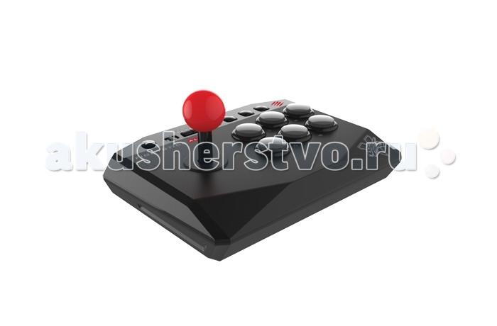 Mad Catz PS 4 Аркадный Стик Street Fighter V AlphaPS 4 Аркадный Стик Street Fighter V AlphaОфициально лицензированный аркадный джойстик Street Fighter V Arcade FightStick Alpha перенял все основные черты большого аркадного джойстика – но в компактном корпусе с эргономично размещенными аркадными кнопками.   Настоящее погружение в мир аркадных игр Переход от обычного геймпада к удобному аркадному джойстику может немного пугать. Но бояться не надо. Mad Catz смягчила этот удар, создав идеальный джойстик начального уровня для совершенного управления и точности в игре. Аркадный джойстик Arcade FightStick Alpha - это задиристый боец, имеющий идеальный вес для тренировок. Alpha дает подлинное ощущение аркадного боя, но без лишнего веса или настраиваемых элементов, присущих всемирно известному обновленному клану аркадных джойстиков Mad Catz Arcade FightSticks.  Звезда контактных боев Компактный дизайн. Мощные характеристики в небольшом корпусе.  Тщательно выверенная 6-ти кнопочная аркадная схема создает условия настоящей аркады. Рукоятка с шаровидным наконечником работает как левый или правый аналоговый стик или D-Pad, для любого вида игр Длинный (3 метра) USB кабель минимизирует помехи. Подходит для консолей PlayStation 4 и PlayStation 3.  Классическая схема для файтингов В аркадном джойстике Arcade FightStick Alpha есть все, что нужно для аркадного контроллера и нет ничего лишнего. Вы получаете рукоятку с шаровидным наконечником и 6-ти кнопочную схему, напоминающую расположение кнопок на японских игровых автоматах. Несмотря на то, что мы имитировали аркадную схему, этот аркадный джойстик от Mad Catz поддерживает все игры для PS4 и PS3. Оставшиеся две кнопки не мешают во время файтингов , но легкодоступны для других игр.   Кнопка блокировки для игры без помех Специальный тумблер отключает кнопки Start/Options и Select/Share, и предохранет от случайного использования кнопки PS. Аркадный джойстик Alpha предотвращает риск нажатия не той кнопки в разгаре боя.  Надежное USB соед