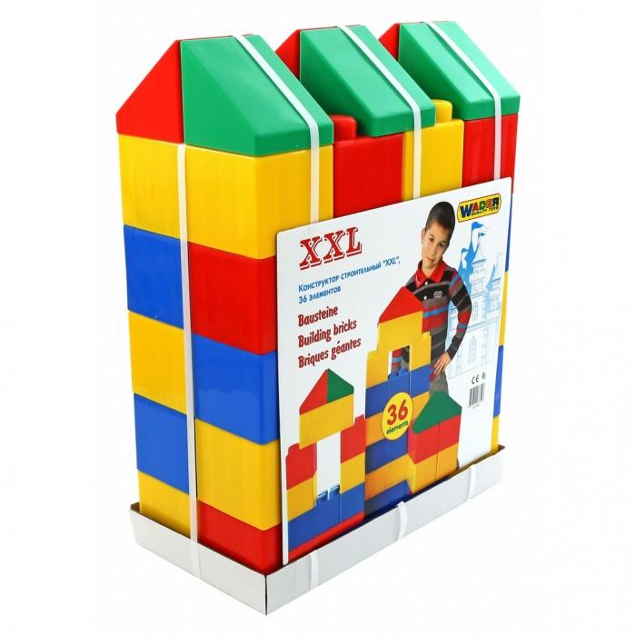 Конструктор Wader XXL (36 элементов)XXL (36 элементов)Конструктор Wader серии XXL специально создан для игр маленьких детей, крупные элементы безопасны и позволяют развивать моторику рук и физику тела ребенка.   Во время игры с конструктором из серии XXL у ребенка активно развивается пространственное и логическое мышление. Возводя постройки, маленький строитель получает понятие о симметрии/асимметрии, учится подбирать нужные блоки по размеру, цвету и тренирует свое воображение.   Это самый полезный конструктор для малышей, детали которого выполнены в масштабе настоящих строительных кирпичей. Такая реалистичность позволяет ребёнку полностью вжиться в роль строителя и созидать, фантазировать, пробовать. Возможно, это начало большого будущего, в котором Ваш ребенок станет архитектором или строителем.   Крупный размер и скругленные углы конструктора обеспечивают безопасность для малышей. Соединять элементы из такого набора намного проще, а потерять детальку невозможно.   Основные достоинства такой игрушки в том, что с её помощью малыш учится создавать первые объёмные фигуры, тем самым развивая пространственное мышление. Также знакомится с цветом. Всё это происходит в форме игры, которая без труда даётся ребёнку. Этот большой конструктор никогда не остается без внимания на мероприятиях, позволяя удивлять посетителей различными сооружениями большого размера, будь то детские домики, лабиринты или игровые зоны.   Игра с таким конструктором очень увлекательна, ведь дети не просто занимаются строительством, они могут использовать своё творение в качестве декораций для игры. Размер конструктора XXL это позволяет. С этим конструктором могут играть дети вместе со взрослыми. Массивные фигуры, которые можно создавать поистине поражают, заставляя работать воображение.   Конструктор Wader XXL станет любимой игрушкой всей семьи! Качество пластика марки Wader видно невооруженным глазом. Это самые высочайшие европейские стандарты качества. Изготовлено из высококачественного и экологиче