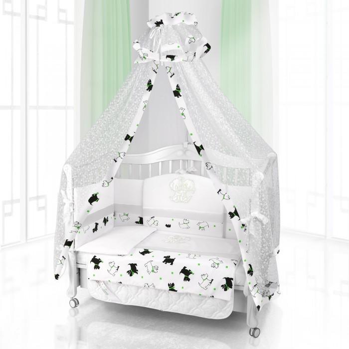 Комплект в кроватку Beatrice Bambini Unico Cuccioli 120х60 (6 предметов)Unico Cuccioli 120х60 (6 предметов)Комплект Beatrice Bambini Unico Cuccioli (120х60) окружит вашего малыша настоящей заботой и большим кругом милых друзей в виде очаровательных скотч-терьеров. Специально отобранные ткани с мягкой структурой не будут натирать нежную кожу ребенка, и провоцировать его излишнюю раздраженность. Исходя из этого кроха будет хорошо высыпаться и вставать с новыми силами, для того чтоб познавать окружающий мир.   Данный комплект идеально подходит для кроваток с габаритными размерами 120х60 см.  Все материалы, которые использовал итальянский производитель, проходили обязательную проверку по следующим параметрам:  соответствие экологическим и санитарным нормам отсутствие каких-либо аллергенов высокое качество и максимальная натуральность  В состав комплекта вошли такие постельные принадлежности как: подушечка правильной ортопедической формы одеяло с инновационным наполнителем, который будет поддерживать оптимальный температурный баланс у крохи наволочка и пододеяльник простынка с резиночками для фиксации съемные бортики, которые уберегут кроху от травматизма<br>