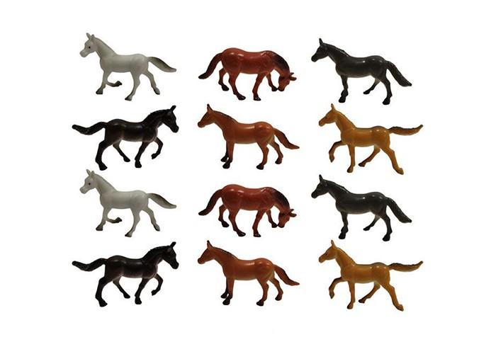 Игровые фигурки 1 Toy Набор  фигурок Лошади 12 шт. 5 см набор фигурок 2 шт петух и курочка 13 8 5 11 5 см цв уп 1021429