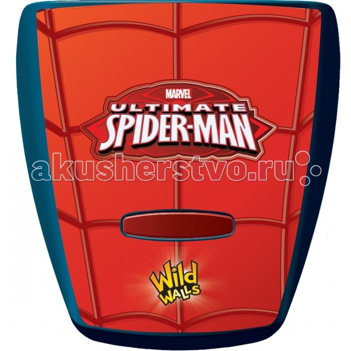 Uncle Milton Настенный проектор Человек-паук: Паутина In My Room MarvelНастенный проектор Человек-паук: Паутина In My Room MarvelИнтерактивный настенный проектор Человек-паук: Паутина.   Проектор с уникальными звуковыми эффектами плетения паутины и световыми эффектами красной паутины.   Требуется 3 батарейки типа АА. Батарейки входят в комплект. Возраст: 5+<br>
