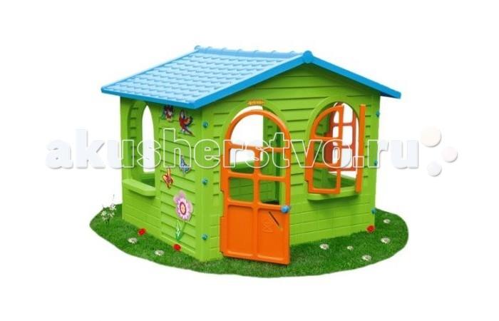 Кассон Игровой домик 10425Игровой домик 10425Игровой домик Кассон 10425 Яркий, красочный игровой домик станет любимым местом игр Вашего малыша. Можно использовать для игр как в домашних условиях, так и на свежем воздухе и на даче! Абсолютно безопасен для детей: изготовлен из высококачественной пластмассы, не имеет острых углов. Быстро и легко собирается, не больше 10 минут.   Особенности:  Не имеет острых углов;  Можно использовать для игр в домашних условиях или на свежем воздухе;  Легко и быстро собирается. Рекомендуемый возраст детей: от 2-х лет. Размеры (ДхШхВ): 1,27х1,5х1,18 м.<br>