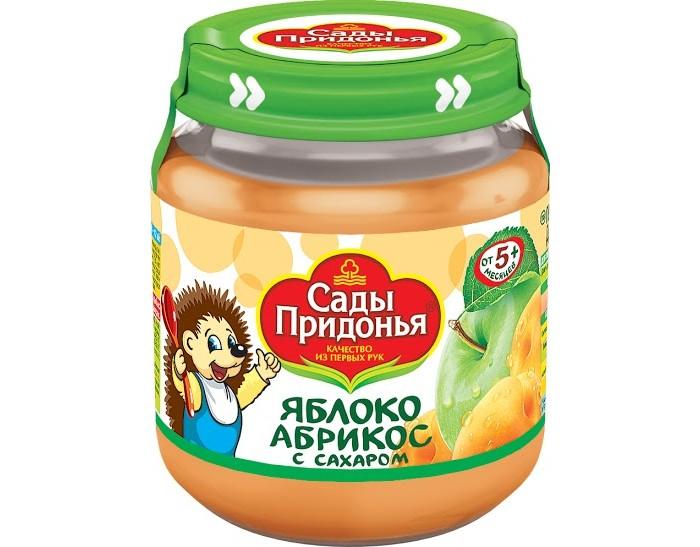 Пюре Сады Придонья Пюре Яблоко-абрикос с 5 мес., 120 г пюре сады придонья яблоко и персик с 5 месяцев