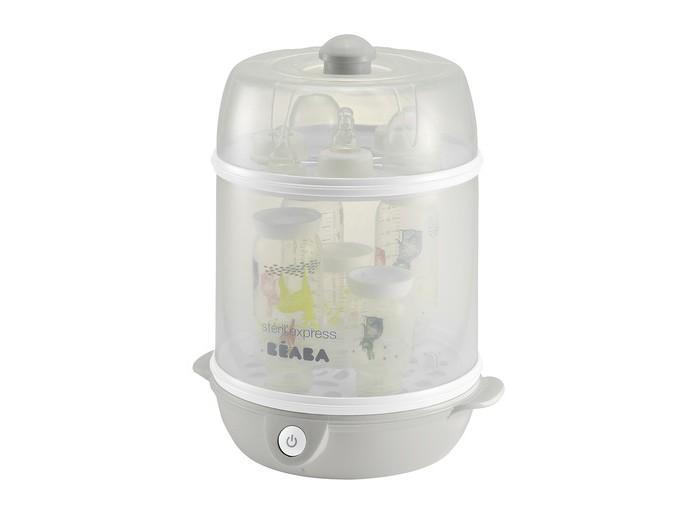 Beaba Стерилизатор электрический SterilExpress 2 в 1Стерилизатор электрический SterilExpress 2 в 1Стерилизатор электрический SterilExpress 2 в 1  Идеально подойдет для стерилизации детских бутылочек и принадлежностей для кормления. Удобно в путешествиях и на отдыхе. Beaba - ведущая торговая марка, в основу деятельности которой входит производство продукции для детского питания. Beaba воплощает оригинальные идеи для повседневной жизни родителей и малыша. Прием пищи, гигиена, прогулки, сон - на все есть решение от Beaba!  Особенности: предназначен для стерилизации детских бутылочек и принадлежностей для кормления обеспечивает быструю стерилизацию за 6 минут рассчитан на 9 стандартных или 6 широких бутылочек термочувствительная ручка на крышке изменяет цвет, если крышка горячая прост в использовании легко моется и занимает мало места на кухне  Материалы: пластик нагревательный элемент - нержавеющая сталь  В комплекте: мерный стаканчик со шкалой, съемный шнур для удобства хранения, щипцы для бутылочек  Общие размеры: дхшхв 29х25х36,4 см Вес: 2,2 кг<br>
