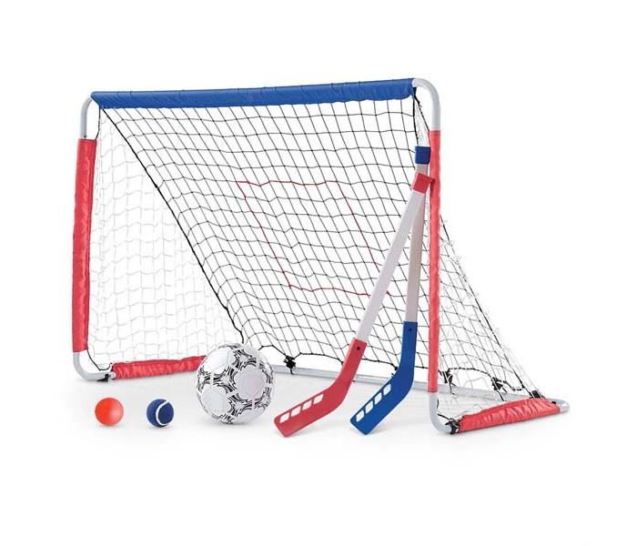 Step 2 Ворота для футбола и хоккеяВорота для футбола и хоккеяВорота для футбола и хоккея изготовлены из высококачественного прочного пластика.   Особенности: - подходит для детей от 3 лет - оригинальный дизайн - товар сертифицирован - детские ворота для подвижных игр в хоккей и футбол - подходит для улицы - прочная конструкция прослужит вашим детям долгие годы    В комплекте: - футбольный мяч - две клюшки - два мяча для хоккея    Размеры: (дхшхв): 46х77х123см   Вес: 4кг<br>