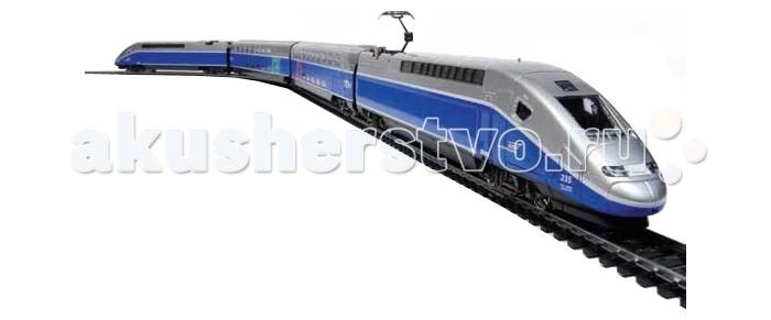 Mehano TGV DuplexTGV DuplexЖелезная дорога «MEHANO» TGV DUPLEX - это миниатюрный скоростной состав. Обтекаемые линии, матовый стальной цвет в сочетании с благородным синим, быстрое движение поезда делают его похожим на механическую птицу, которая летит по рельсам, будто не касаясь их.   Это стремительное изящество вписано в рамки рельсового овала, но при желании железнодорожное полотно можно увеличить, ведь все элементы железных дорог «MEHANO» совместимы друг с другом.   Рельсы металлические, колеса паровозов из металла, Очень качественная игрушка.    Характеристики железной дороги «MEHANO» TGV DUPLEX:  • масштаб 1:87;  • работает от электрической сети через адаптер – 220 вольт;  • максимальная скорость – 6 км/ч, возможность изменения скорости движения;  • размер собранного железнодорожного полотна: 117,5  смх 95,5 см;  • ширина колеи: 16,5 мм; • размер упаковки: 64 x 38,5 x 34,5 см;  • все элементы комплекта совместимы с другими сборными моделями железной дороги «MEHANO», так что юный машинист сможет прокладывать различные маршруты, строить новые станции и придумывать неповторимый, свой собственный уникальный ландшафт.   В комплекте:  • 1 ведущий локомотив TGV DUPLEX, 1 ведомый локомотив TGV DUPLEX, 1 вагон первого класса, 1 вагон второго класса;  • 3,35 метров железнодорожного полотна: 12 радиальных рельс, 2 прямых;  • сетевой адаптер;  • пульт-контроллер; • подробная инструкциями по сборке и управлению (с иллюстрациями).<br>