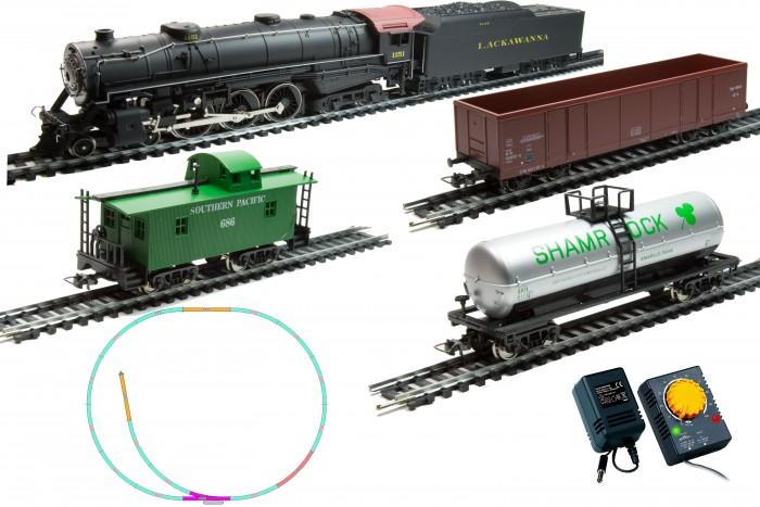 Железные дороги Mehano Prestige паровоз Hudson  (4-6-4) с 3-мя вагонами mehano адаптер с регулятором скорости и направления для железной дороги