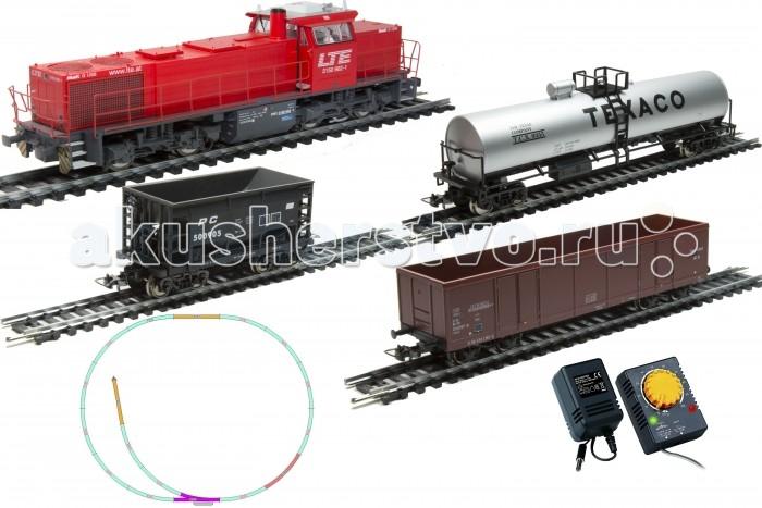 Железные дороги Mehano Prestige тепловоз G1206  с 3-мя вагонами mehano адаптер с регулятором скорости и направления для железной дороги