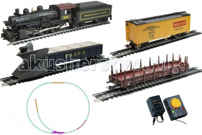 Mehano Hobby Mogul (2-6-0) с 3-мя вагонамиHobby Mogul (2-6-0) с 3-мя вагонамиЖелезная дорога «MEHANO» - миниатюрная копия грузового состава. Мельчайшие детали паровозов, тепловозов и грузовых вагонов, каждая рельефная линия экстерьера тщательно проработаны, благодаря чему состав выглядит более чем реально. Можно вообразить, как этот состав загрузили где-то на миниатюрном перевалочном пункте, а затем он аккуратно вез свой груз по длинным разветвленным путям…    Воплотить воображаемое в действительность очень легко: при желании железнодорожное полотно можно увеличить и добавить элементы ландшафта, ведь все элементы железных дорог «MEHANO» совместимы друг с другом.    При желании, можно докупить стрелку/ перекресток и состав может двигаться на другие участки ж/д дороги.    Рельсы металлические, колеса паровозов и вагонов из металла, Очень качественная игрушка.     Характеристики железной дороги «MEHANO»:    • масштаб 1:87;    • работает от электрической сети через адаптер – 220 вольт;    • возможность изменения скорости движения;    • размер собранного железнодорожного полотна: 120 х 95 см;    • ширина колеи: 16,5 мм;    • все элементы комплекта совместимы с другими сборными моделями железной дороги «MEHANO», так что юный машинист сможет прокладывать различные маршруты, строить новые станции и придумывать неповторимый, свой собственный уникальный ландшафт.    В комплекте:    • 1 паровоз/тепловоз со светом  (Паровоз с тендером)  • 3 грузовых вагона различной конфигурации;  • 13 радиальных рельс,   • 5 прямых рельс,   • 1 стрелка  • 1 радиальных рельс/контактный    • 20 клипс/соединителей,    • сетевой адаптер;    • пульт-контроллер;    • подробная инструкциями по сборке и управлению (с иллюстрациями).<br>