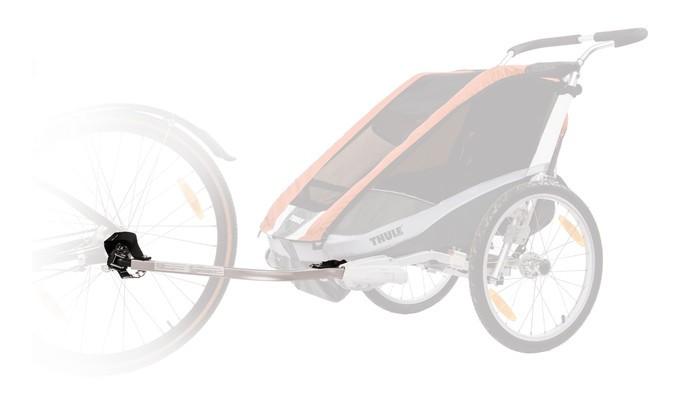 Thule Набор велосцепки для Chariot ChinookНабор велосцепки для Chariot ChinookПозволяет сделать из коляски Thule удобный велосипедный прицеп.   Особенности Запатентованная система установки ezHitch™ обеспечивает быстрый и легкий монтаж Соответствует отраслевым стандартам безопасности В набор входят: легкий алюминиевый рычаг сцепления, детали крепления моста ezHitch™, быстросъемная шпилька, сцепное устройство, флаг безопасности, светоотражатель, запасной ремень, защитный футляр и легкий присоединяемый рычаг.<br>