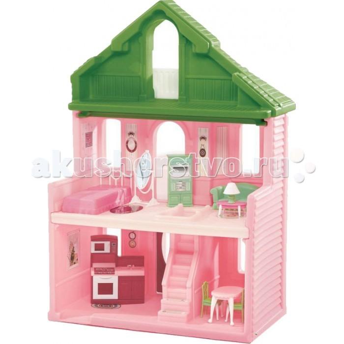 Step 2 Кукольный домик 3-х этажныйКукольный домик 3-х этажныйКрасивый 3-х этажный кукольный домик для долгих и интересных игр.   - открытый домик дает удобный доступ ко всем трем уровням; - реалистичные детали и модные цвета впишутся в комнату любой девочки; - куклы проходят в подъезд с просторной террасой; - лестница приводит на второй этаж, где находится спальня и выход к террасе; - третий уровень - балкон; - прочная конструкция прослужит долгие годы; - при сборке следуйте прилагаемой инструкции; - куклы и мебель в комплект не входят; - товар сертифицирован.  Вес:  16,8 кг Размеры:   Высота: 117 см  Длина: 81.3 см  Ширина: 55.9 см Материал:  пластик   Размер упаковки:   Высота: 83.8 см  Длина: 80.6 см  Ширина: 48.2<br>