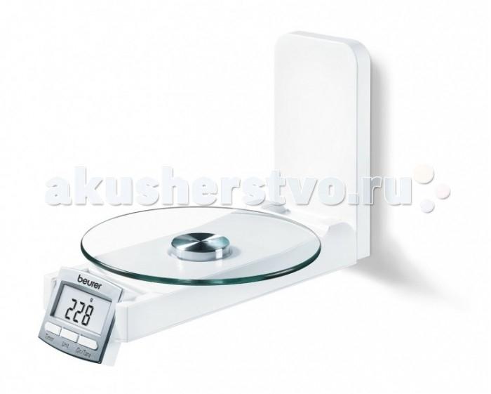 Beurer Весы кухонные KS52Весы кухонные KS52Beurer Весы кухонные KS52  Настенная модель кухонных весов станет незаменимым помощником при приготовлении разнообразных блюд! Она практичная и многофункциональная, удобная в эксплуатации и невероятно нужная для ведения домашнего хозяйства! С ней вы сможете сделать все необходимые заготовки на зиму, испечь любимую выпечку в соответствующих пропорциях, точно рассчитать калории продуктов. Кухонные весы выполнены из долговечного стекла и используются для взвешивания продуктов в любой посуде. С помощью функции «Тара» вы сможете обнулить вес емкости и последовательно измерять массу ингредиентов без учета массы тары.   Особенности:  Дизайнерские настенные кухонные весы со стеклянной платформой  Экономят место благодаря складной платформе  Функция часов и таймера  ЖК-дисплей  Тара - функция довешивания  Автоматическое отключение  Переключение гр/литры.   Технические характеристики:  Градуировка шкалы: 1 г  Максимальный вес: 5 кг  Высота цифр: 16 мм  Размеры изделия: 22.5 x 16 x 5.3 см  Величина дисплея: 45 x 20 мм   В комплект входит:  Основное устройство  Батарейки  Инструкция  Производитель:Beurer GmbH , Германия Гарантия: 36 мес.<br>